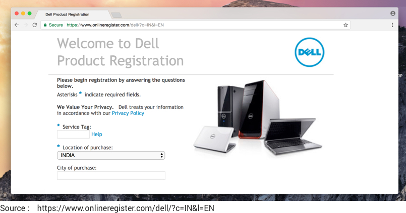 dell serial number check india